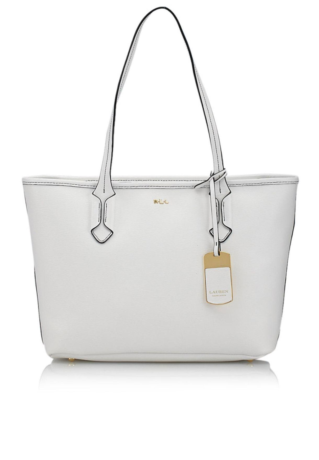 Shop Lauren Ralph Lauren white Tate Shopper 431186086PYR for Women in Qatar  - LA457AC43YPO 5f3d791692