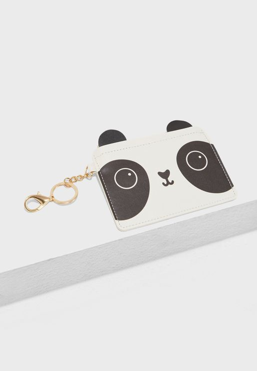 Panda Coin Purse Keyring