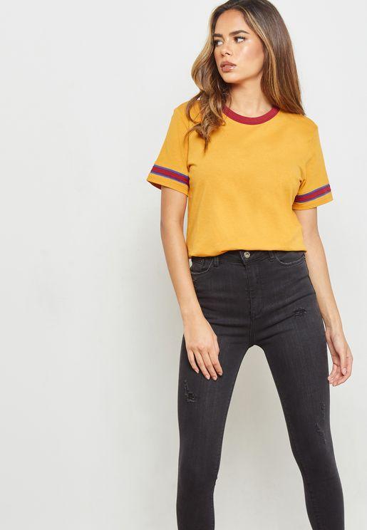 Striped Sleeve T-Shirt