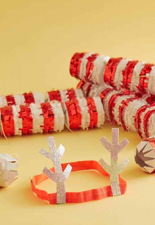 Candy Cane Fringe Cracker
