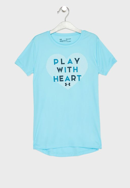 Youth Play With Heart  T-Shirt