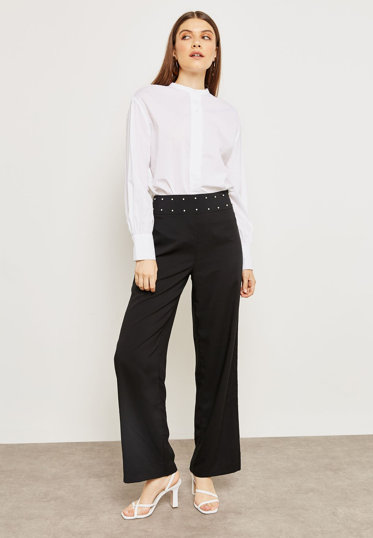 Pearl Embellished Pants