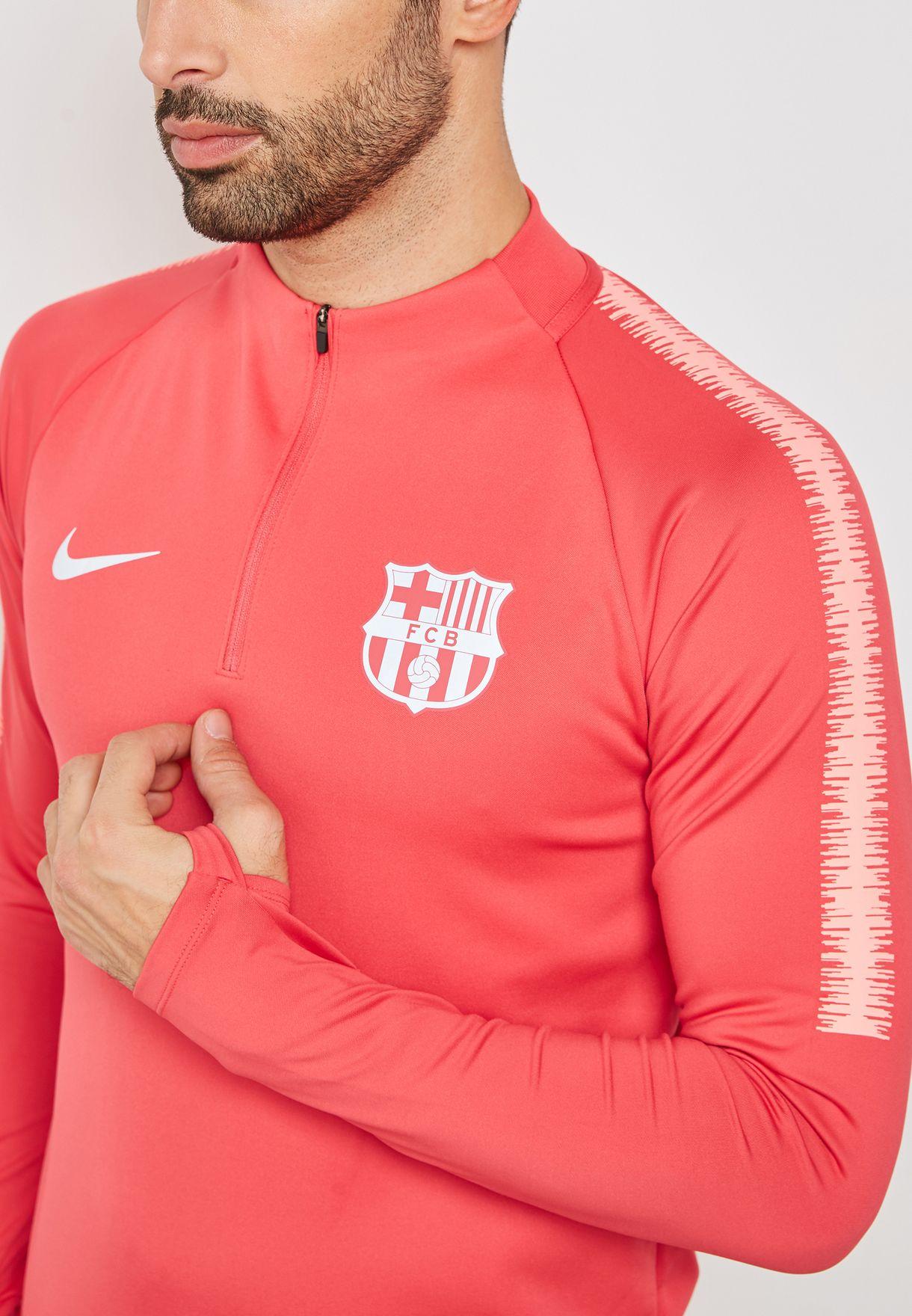 Shop Nike pink FC Barcelona Squad Drill Sweatshirt 894316-691 for ... e048b2c12