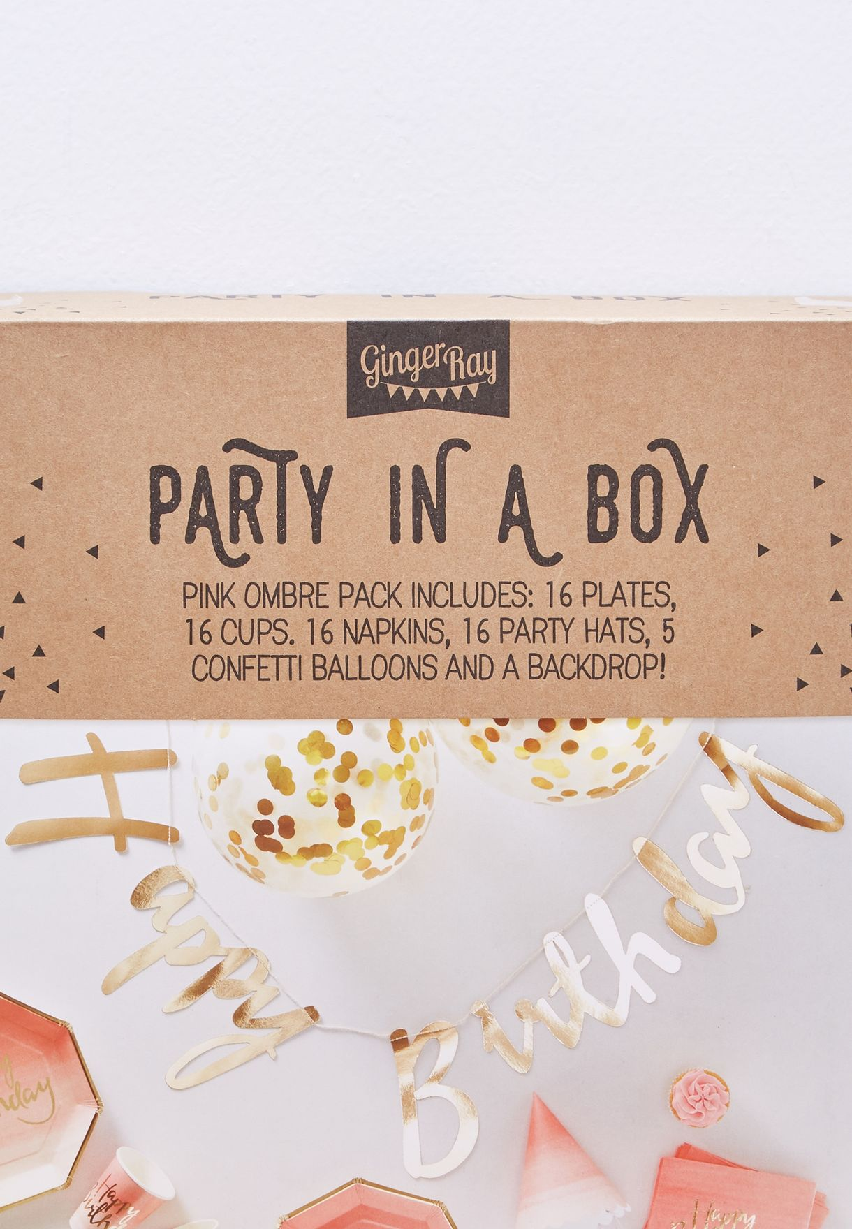 Birthday Party In A Box Pink Ombre