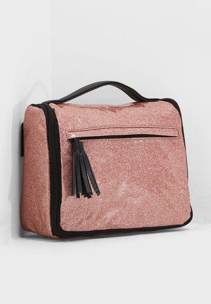 Glitter Hanging Cosmetic Bag