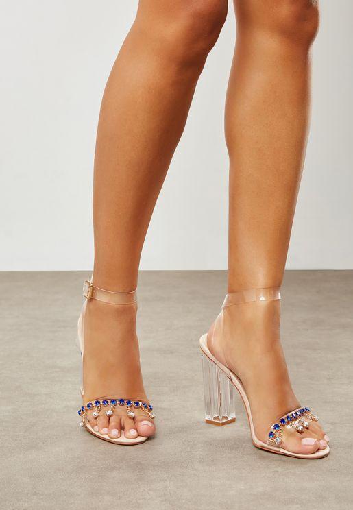 Rian Jewel Toe Perspex Heel