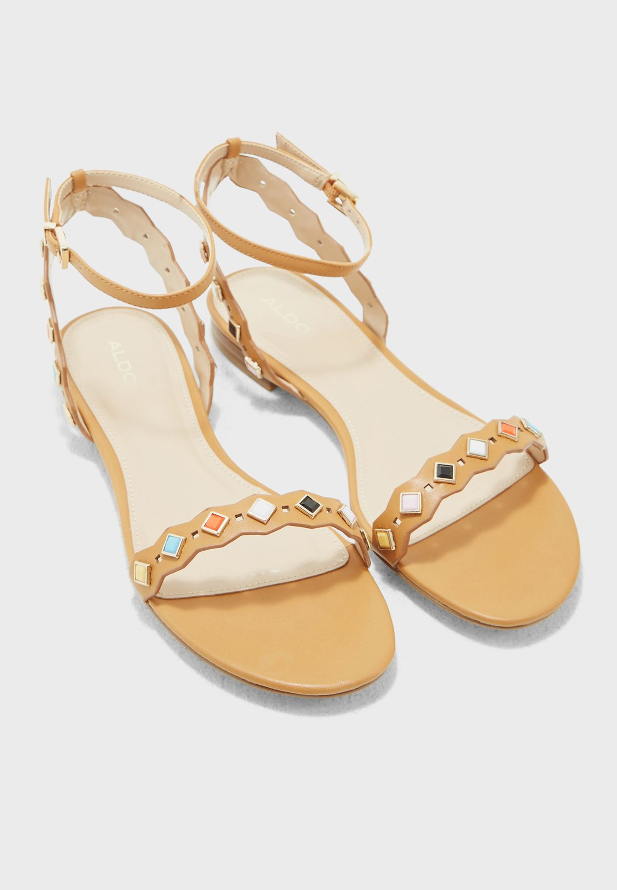 6aa4e35997b0a1 Shop Aldo browns AMELIE Sandals AMELIE28 for Women in Bahrain ...