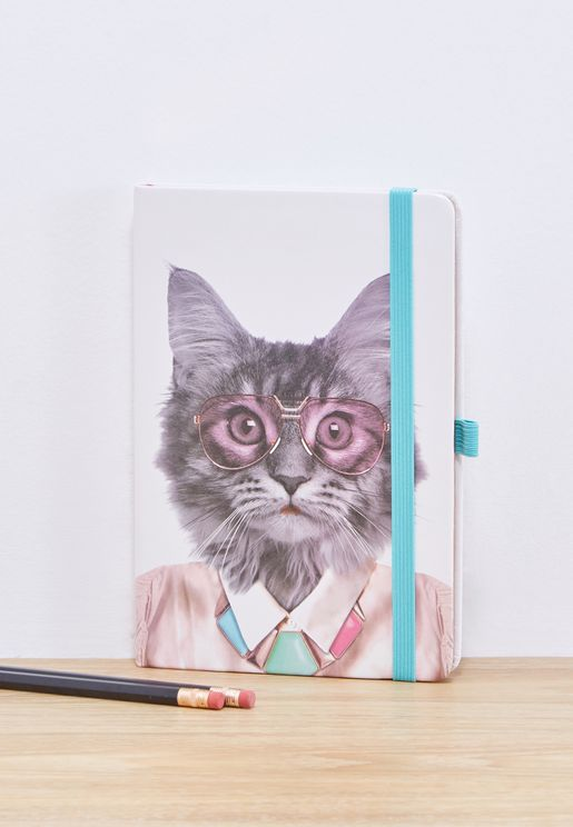 A5 Courtney Cat Printed Notebook