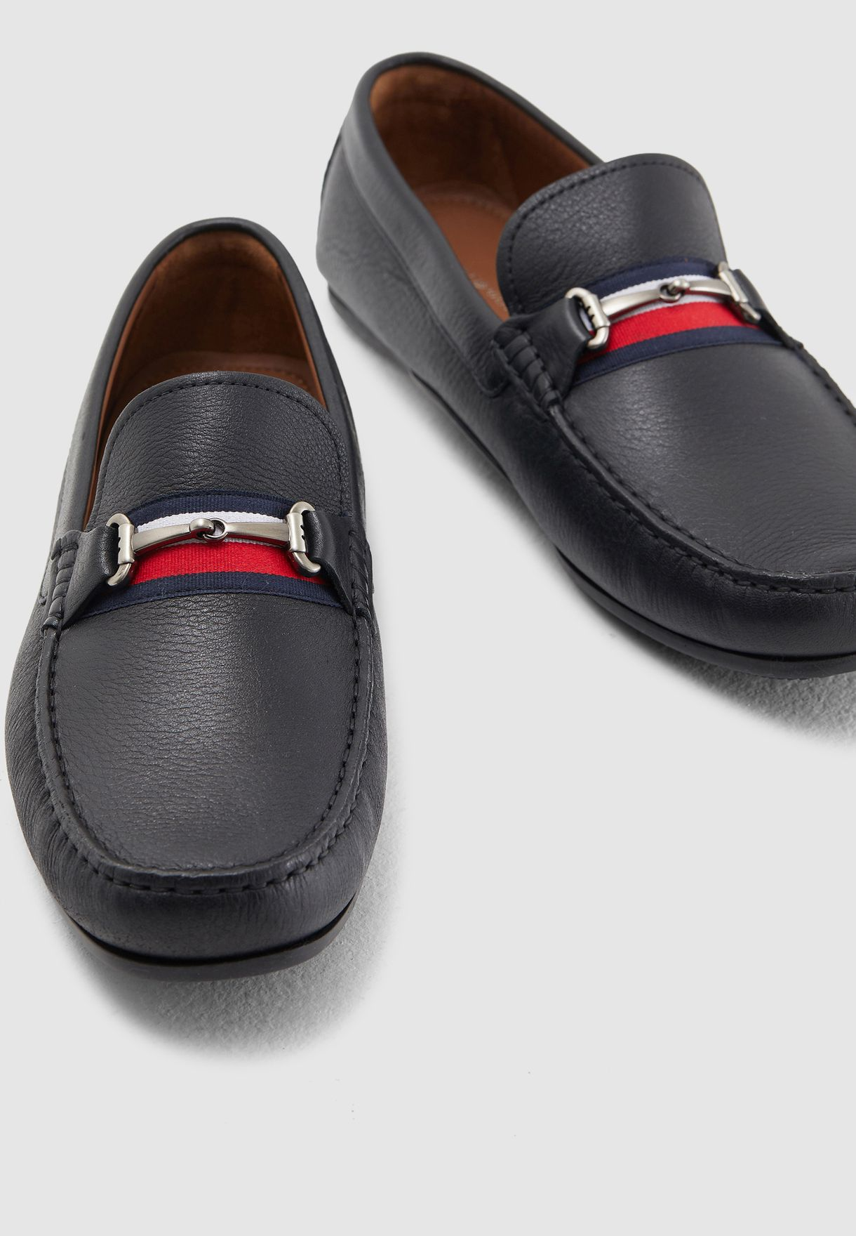 ff96e42351a9 Shop Tommy Hilfiger black Fringe Driver Loafers FM0FM02007990 for ...