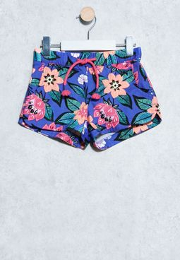 Youth Floral Print Shorts