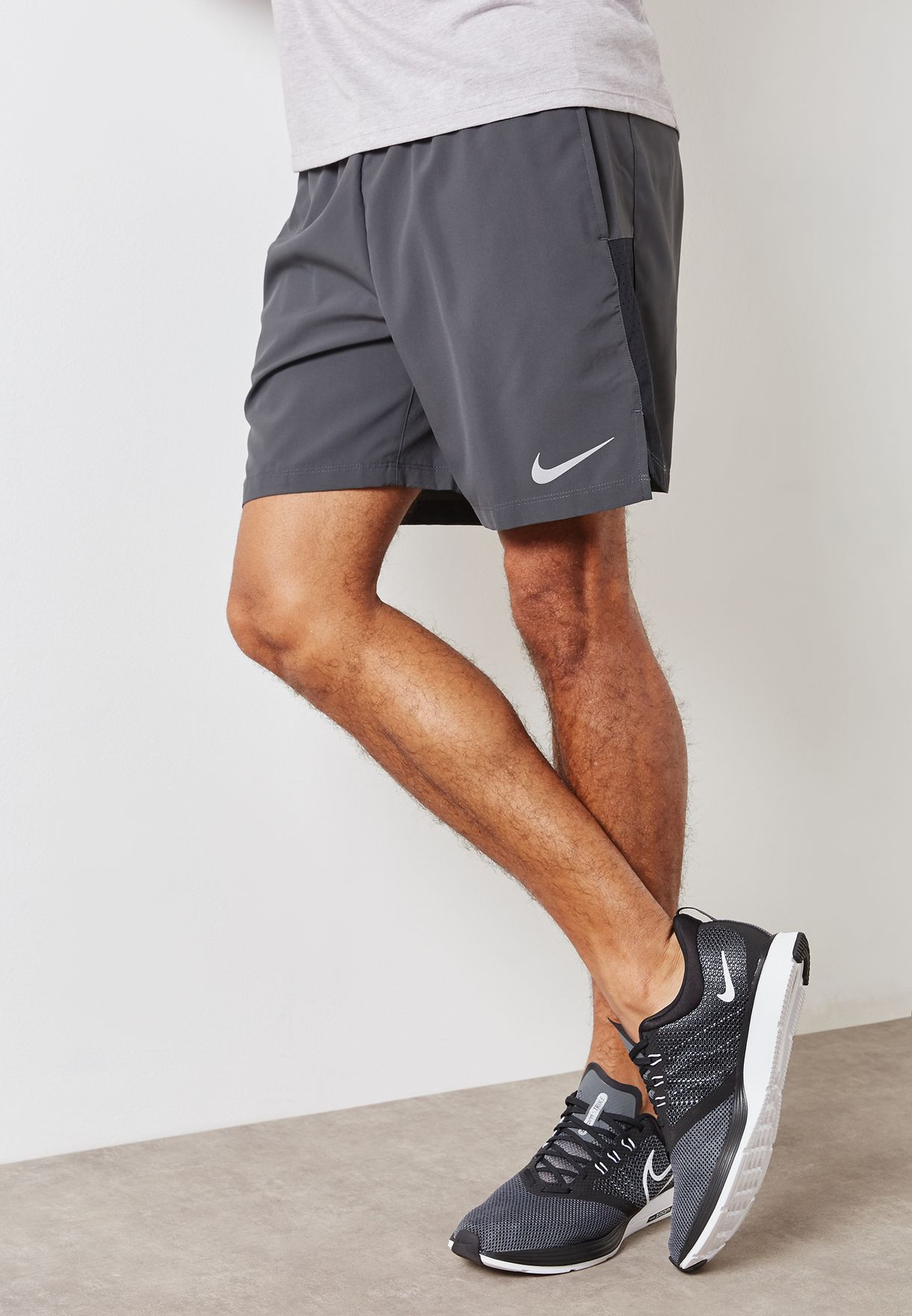 6e3ad269b85f Shop Nike grey Flex Challenger 7 quot  Shorts 856838-060 for Men in ...