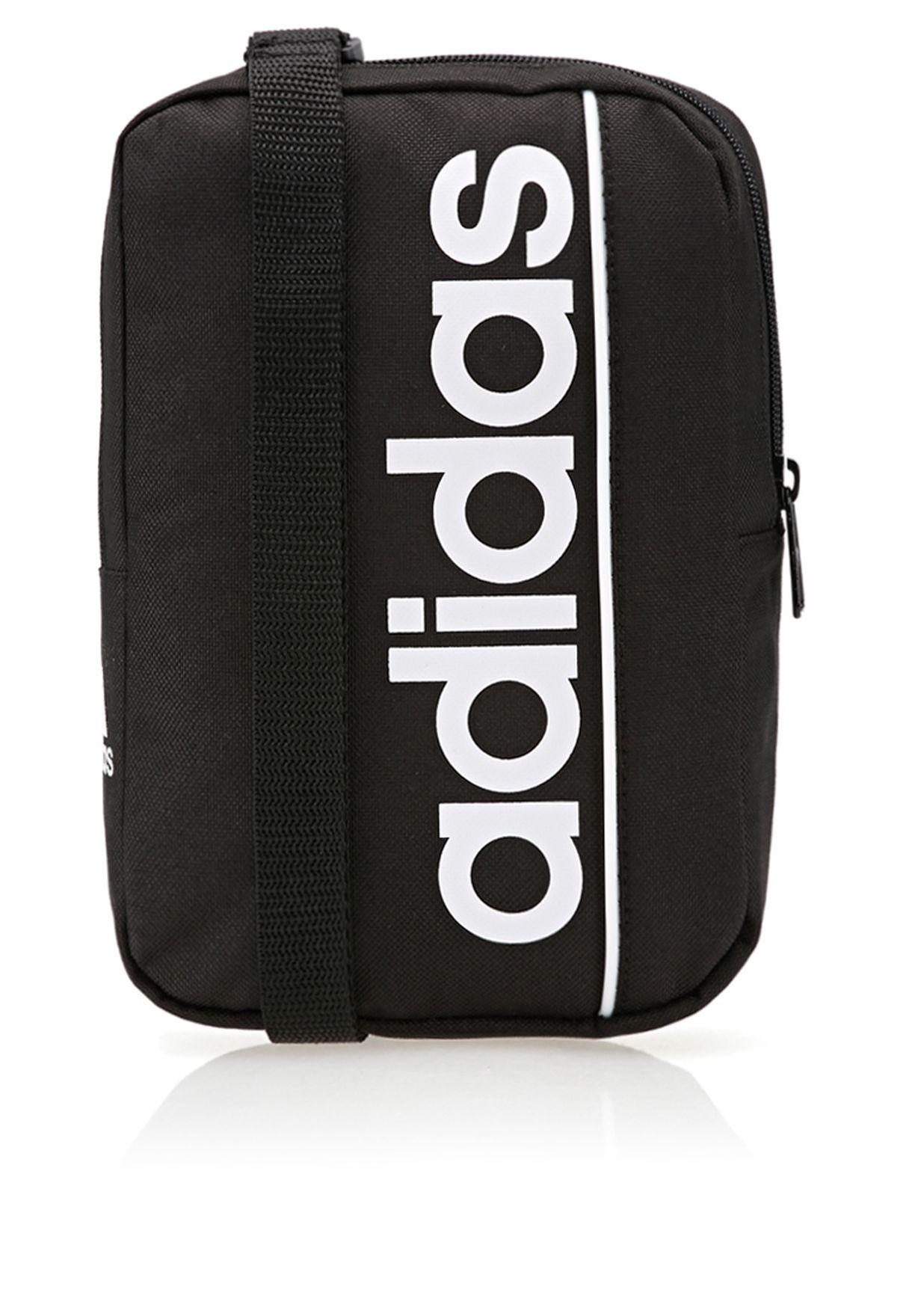14d9a8addf4c Shop adidas black Linear Ess Bag G68687 for Men in UAE - AD476AC43RYM