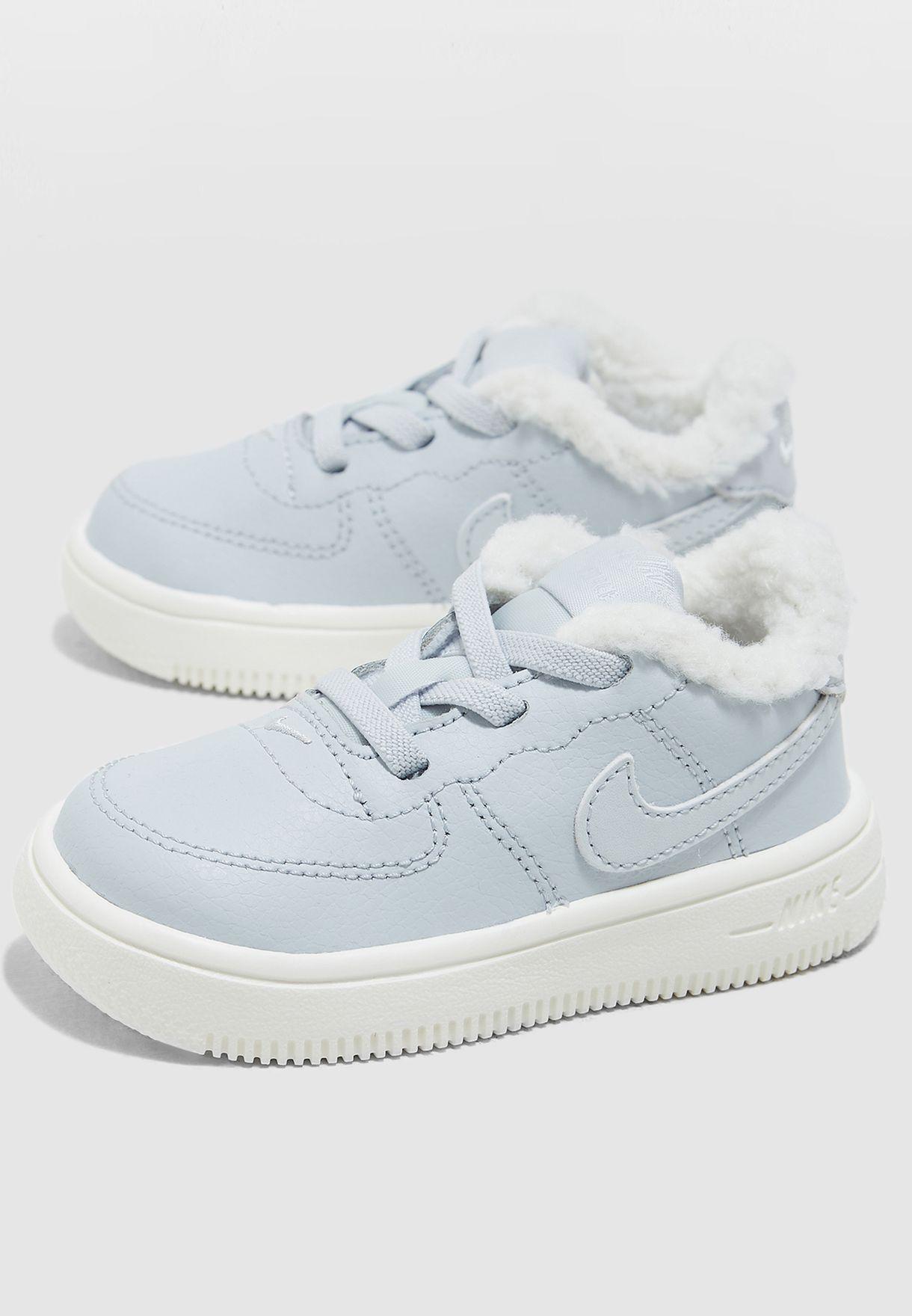 f6c3634de Shop Nike grey Infant Force 1   39 18 SE AR1134-001 for Kids in ...