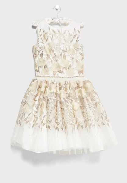 Teen Bloom Bridesmaid Dress