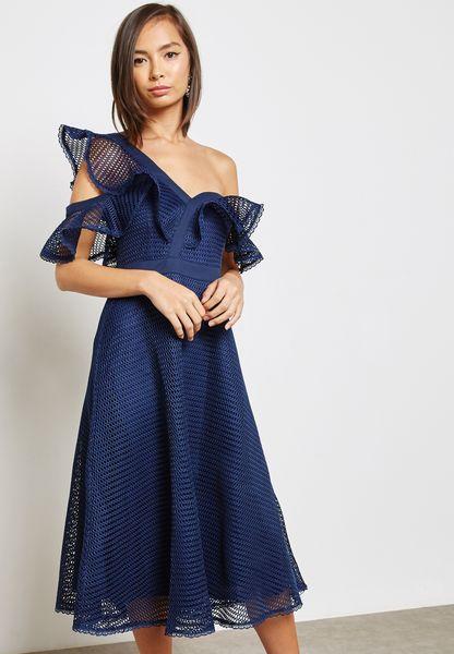 Star Lace Midi Dress