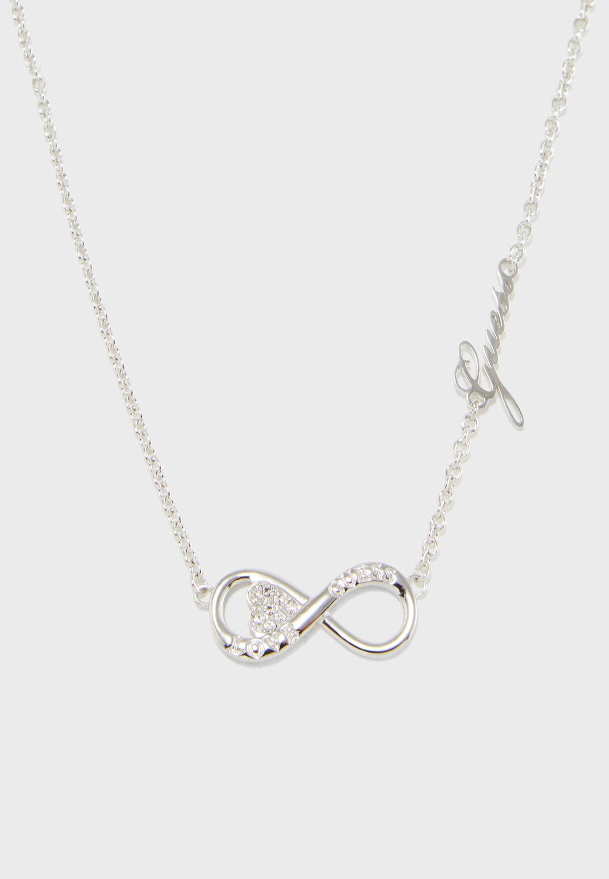 Horiz Infinity Necklace