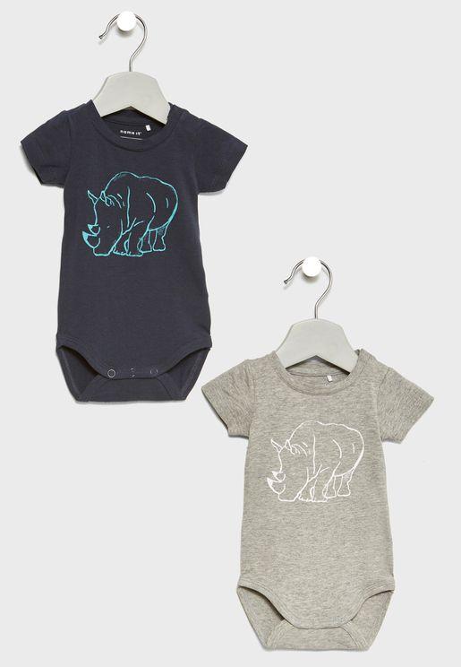Infant 2 Pack Printed Bodysuits