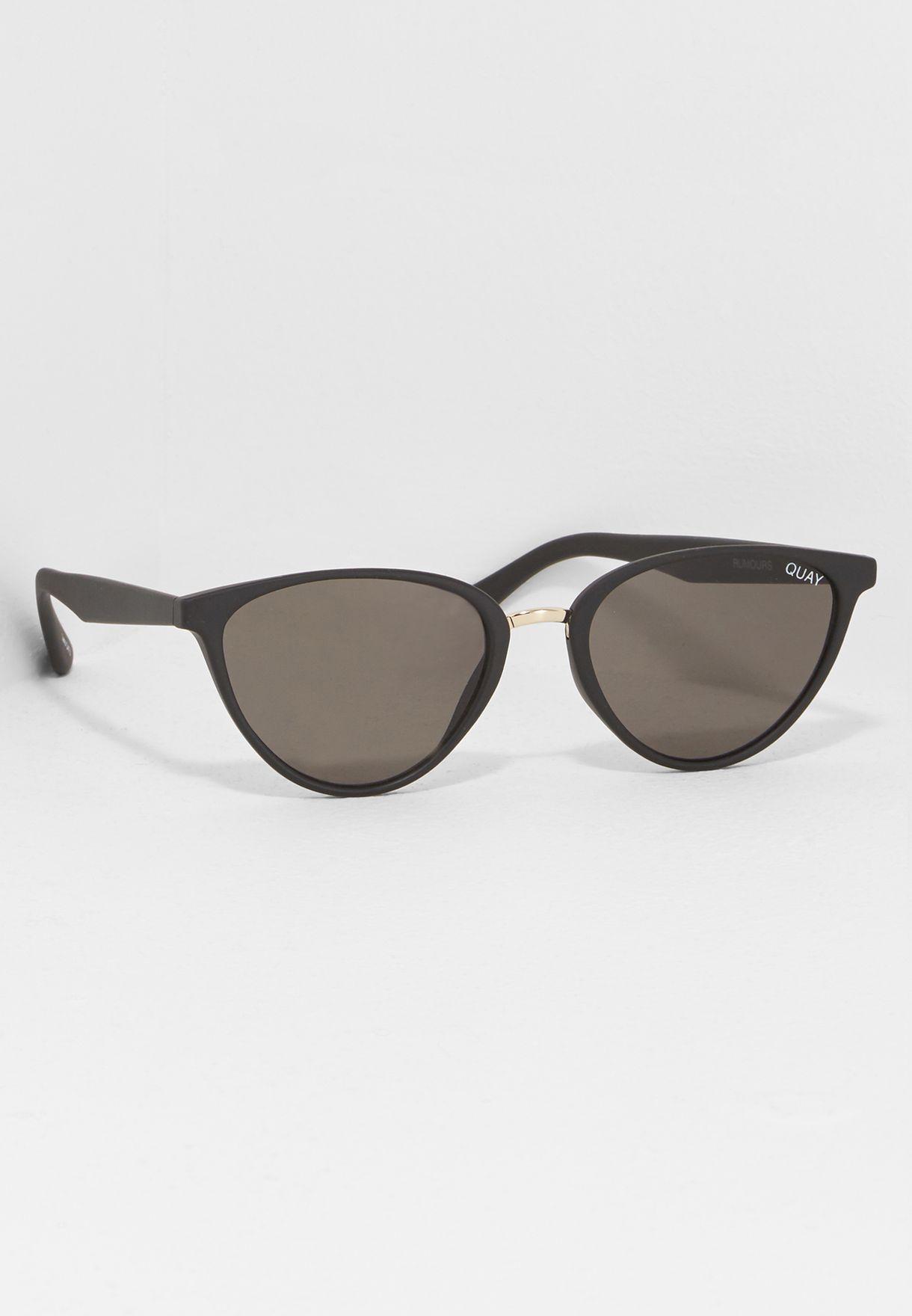 e6993dfcf58fb Shop Quay Australia black Rumours Sunglasses QW-000222-BLK SMK for ...
