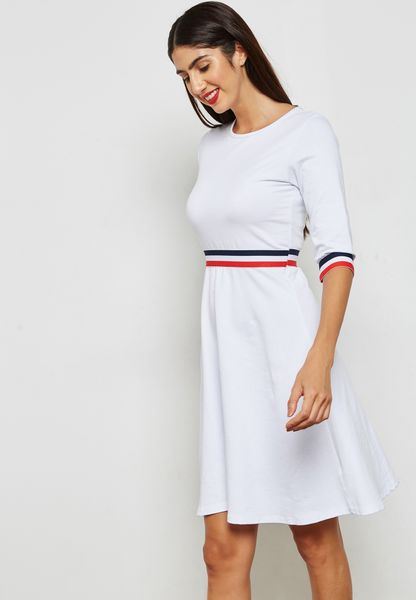 Contrast Paneled T-Shirt Dress