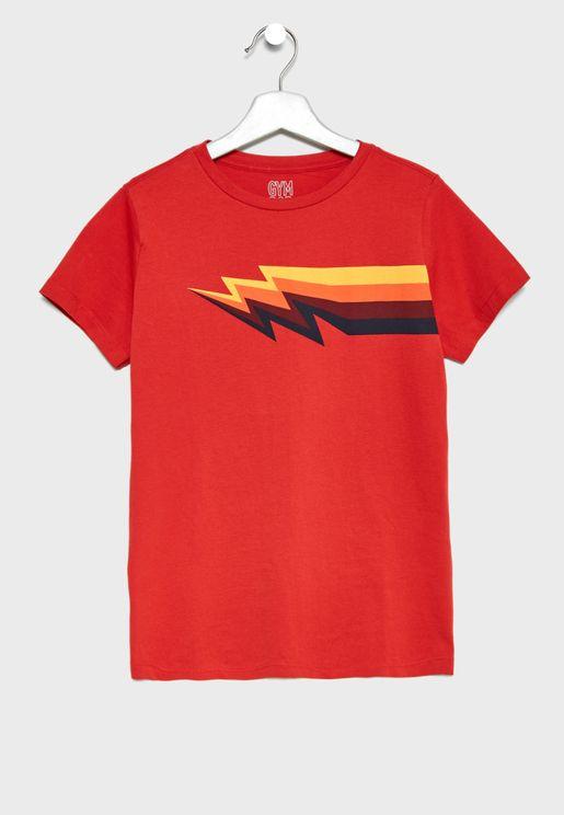 Kids Graphic Lightning T-Shirt