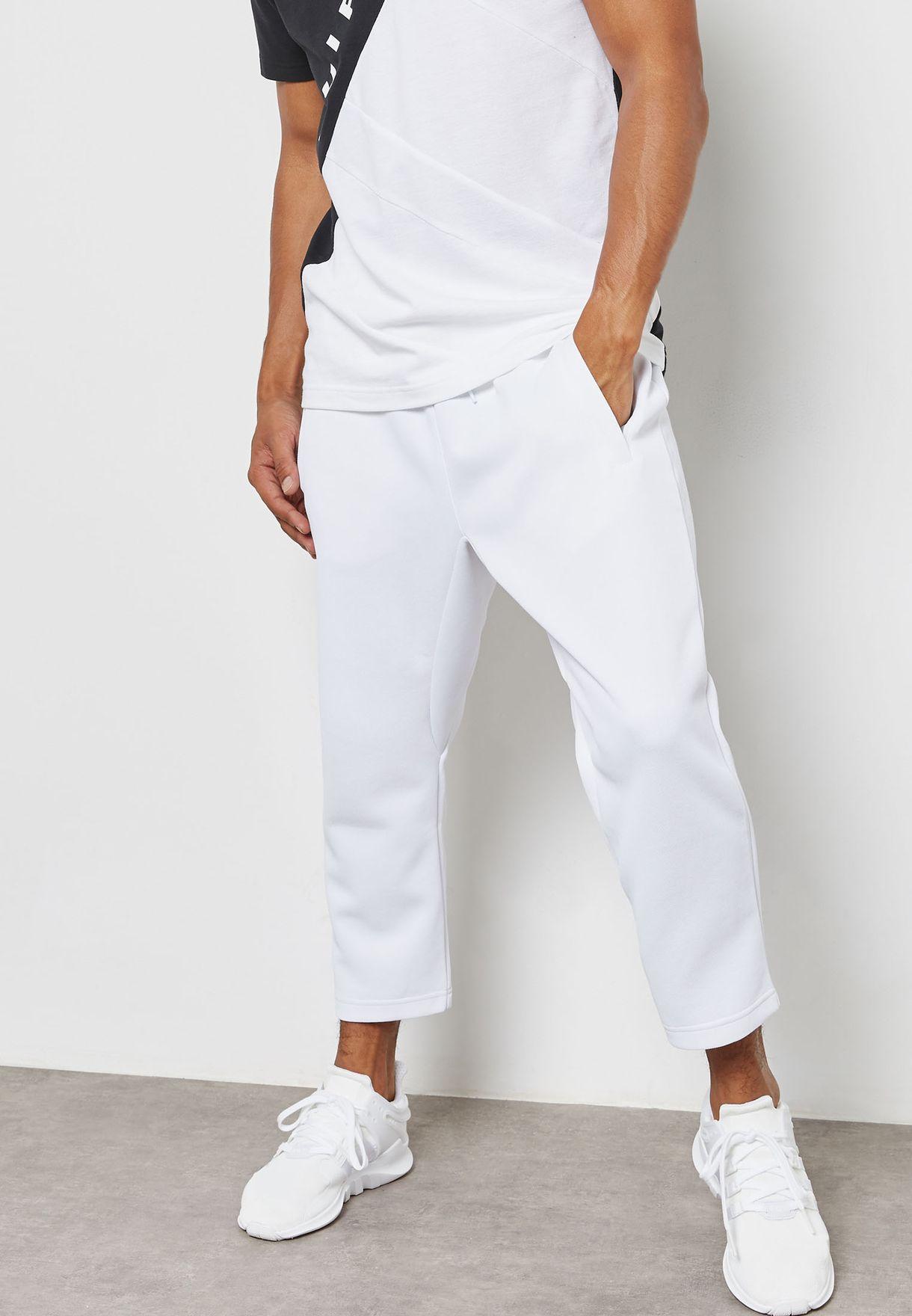 4ddcd420da0 Shop adidas Originals white EQT Hawthorne Sweatpants BQ2088 for Men ...