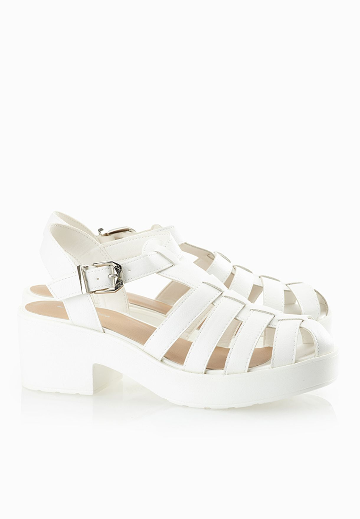 770857d7ca92 Shop Style shoes white Strappy Jelly Sandals for Women in UAE ...