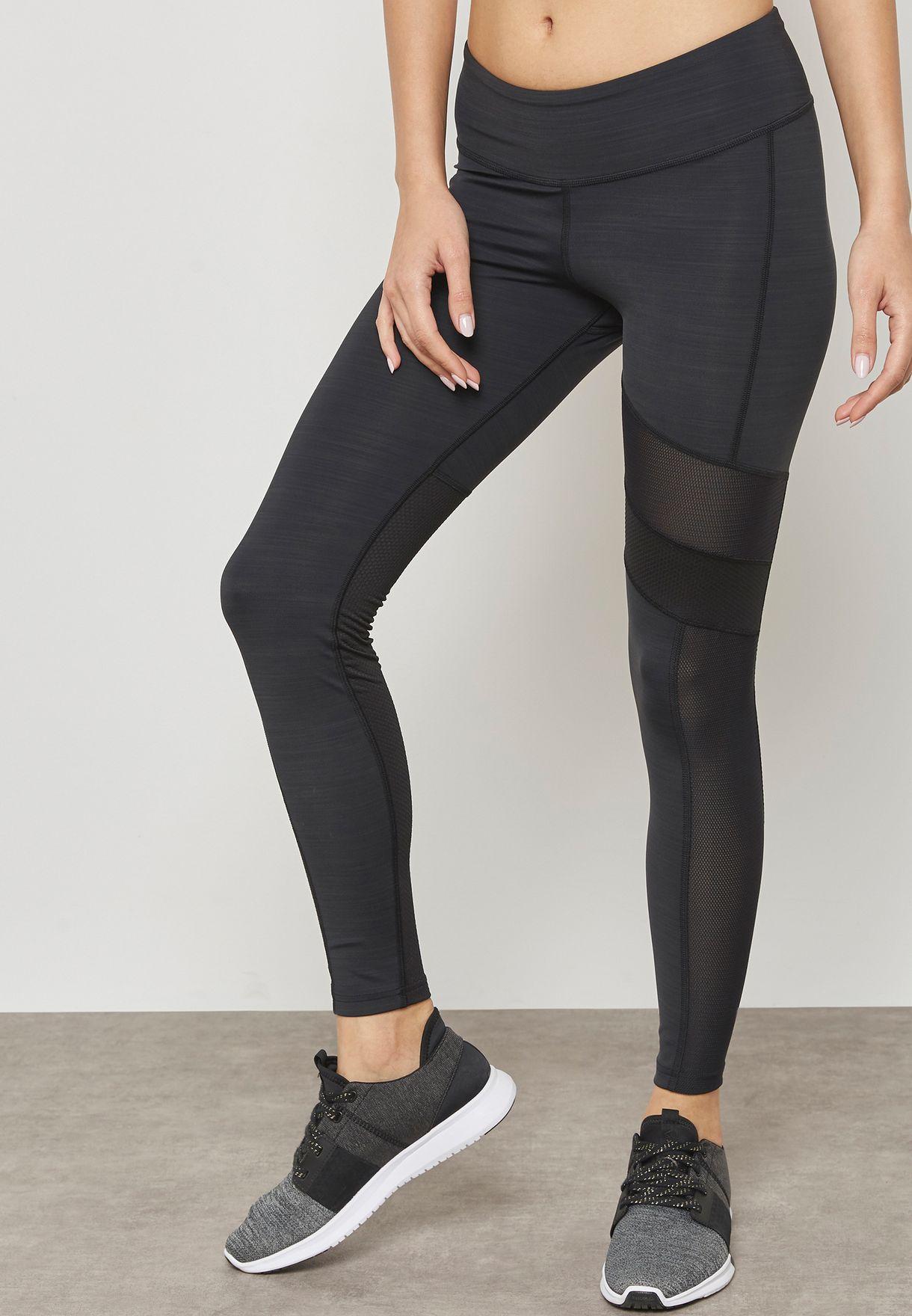 da6c95a64eb9e Shop Reebok black Activchill Mesh Leggings CF3174 for Women in UAE ...