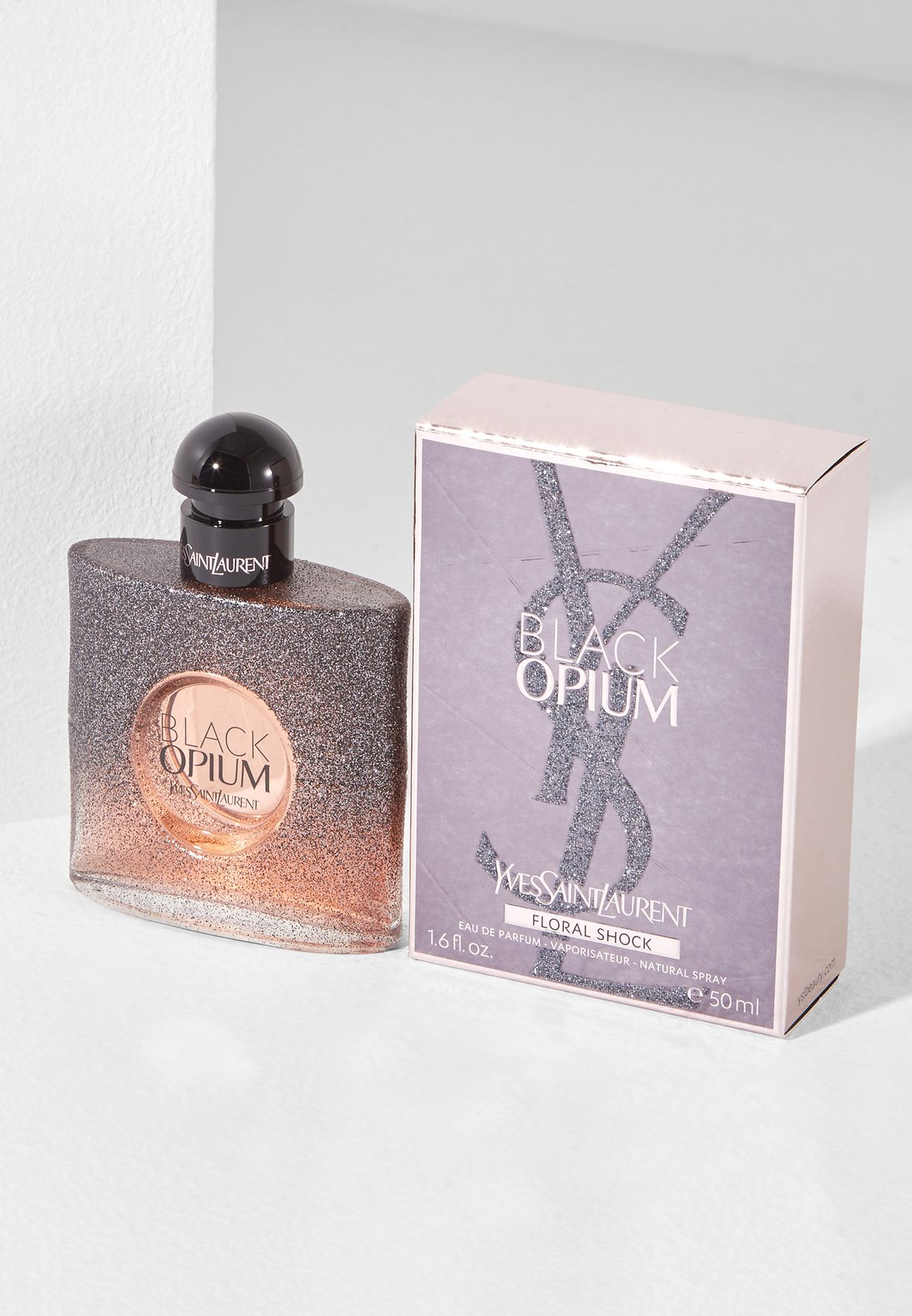 Shop Ysl Clear Black Opium Floral Shock 50ml Edp 3614271566553 For