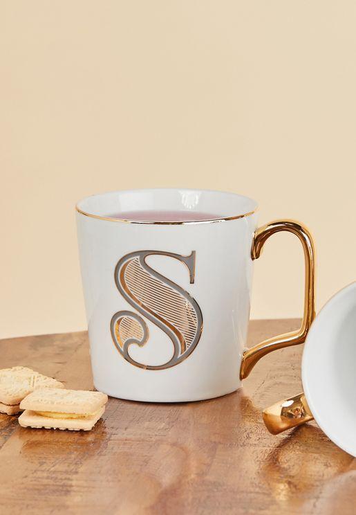S Initial Mug