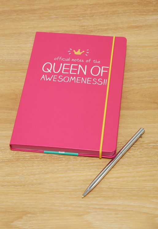A5 Queen Of Awesomeness Notebook