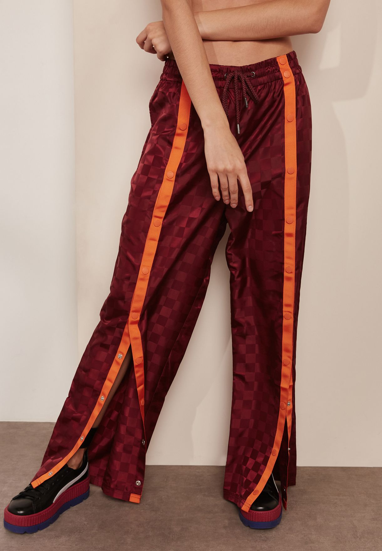 e14fcc150478 Shop PUMA x Fenty prints Front Tearaway Track Pants 57577001 for Women in  UAE - PU552AT33IWS