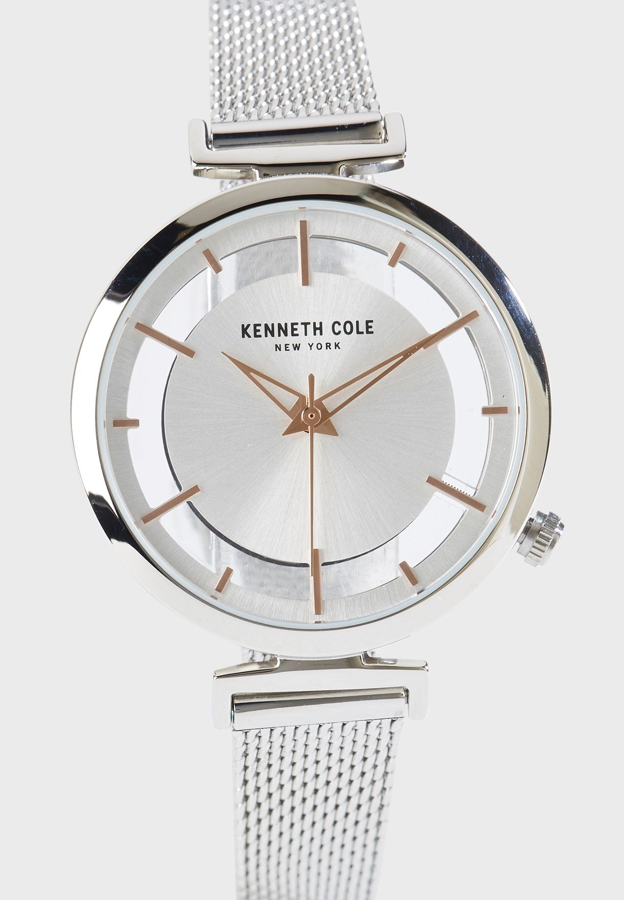 Mesh Strap Analog Watch