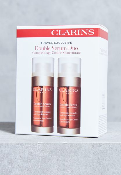 shop clarins red clarins double serum duo 30ml 3380810003987 for women in saudi cl115ac33wwk. Black Bedroom Furniture Sets. Home Design Ideas