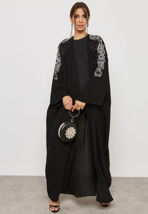Embroidered Sleeves Abaya