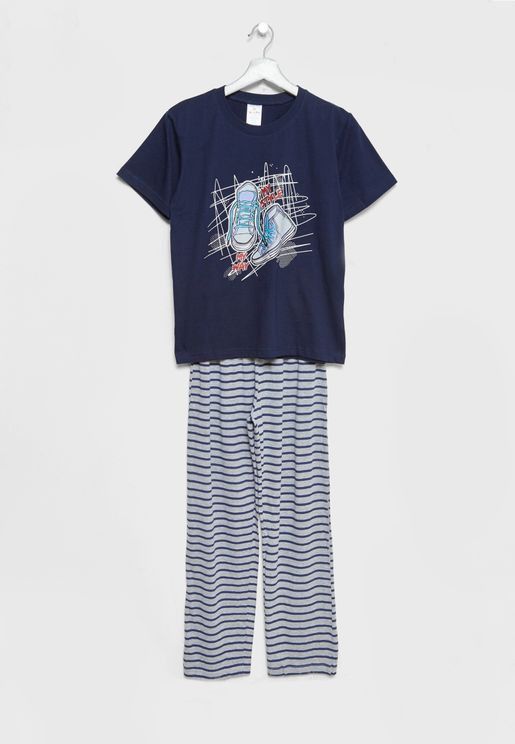 Little T-Shirt + Pyjamas Set
