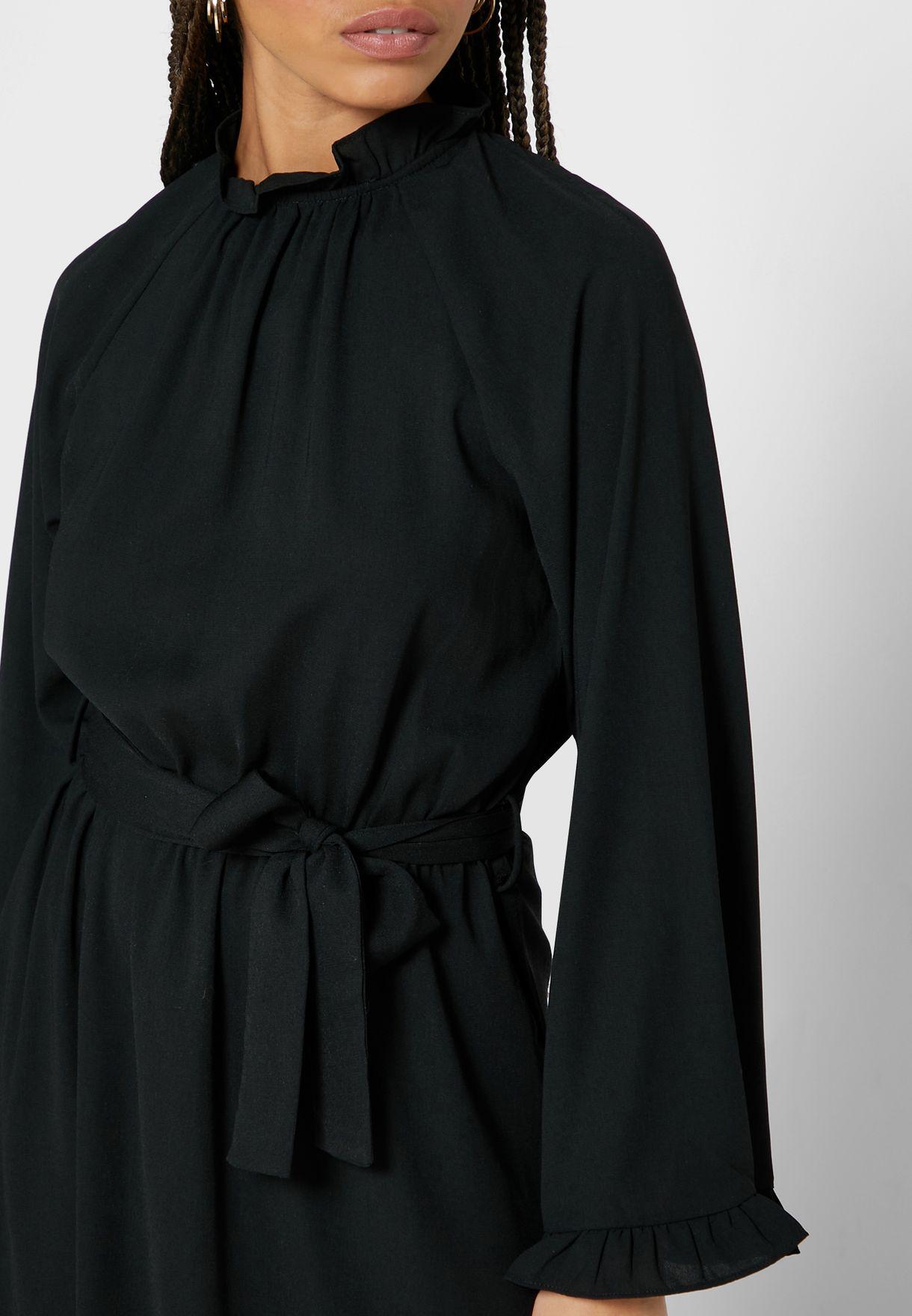 Open Back Self Tie Maxi Dress