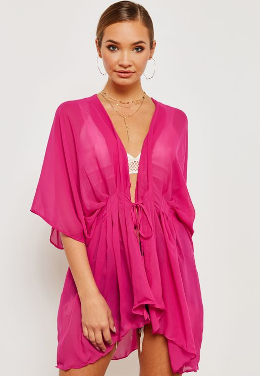 Short Tie Up Plunge Kaftan