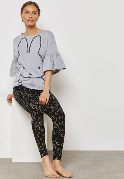 Ruffle Sleeve T-Shirt & Leggings Set