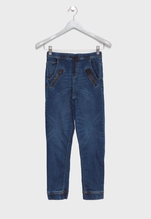 Kids Tie Waist Jeans