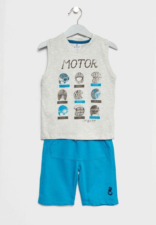 Little Vest + Shorts Set