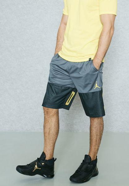 60e0dd7f5a Shop Nike grey Jordan Classic Blockout Shorts 831338022 for Men in UAE  60%OFF