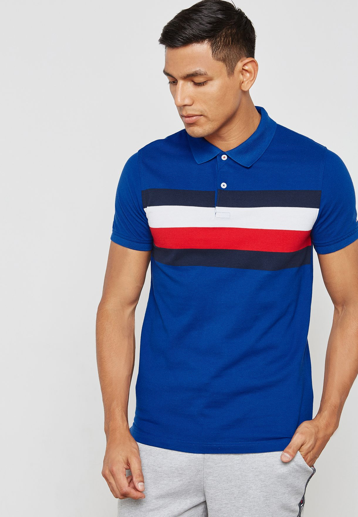 5731686a8d0a25 ... Chest Striped Polo detailed pictures 2d2b5 073fc  Lyst - Tommy Hilfiger  Lester ...