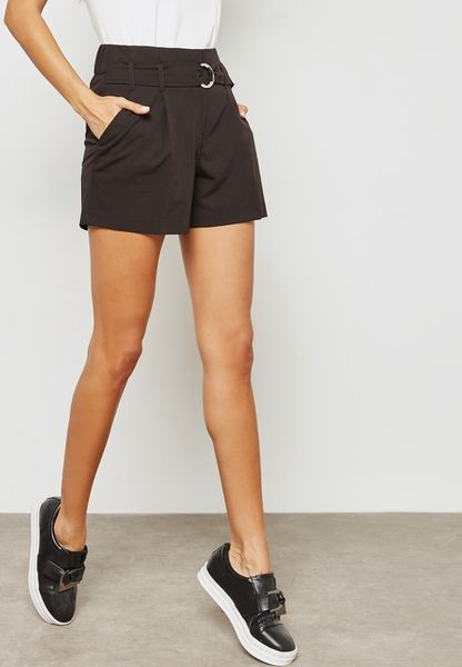 O-Ring Belted Shorts