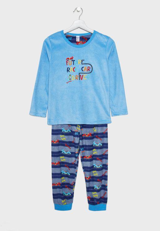 Kids Slogan Pyjama Set