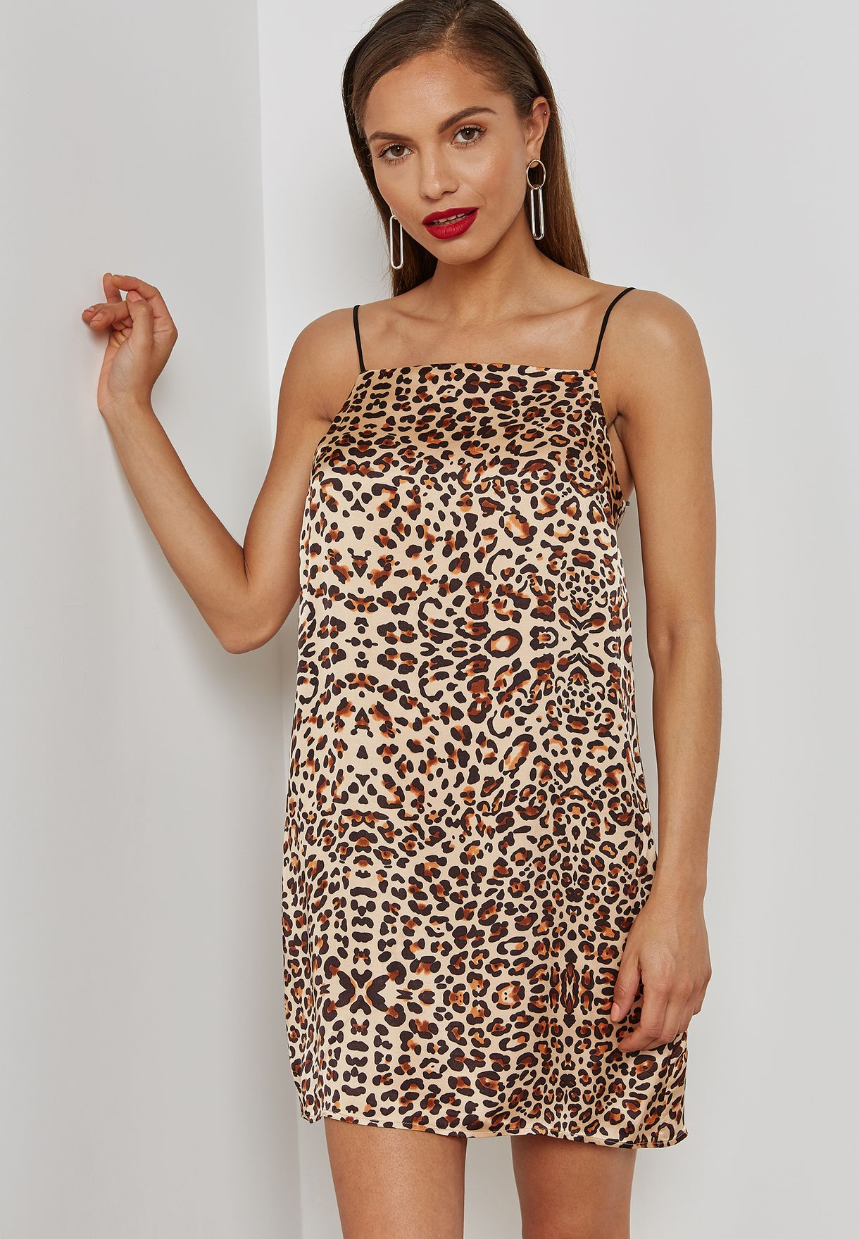 5646a7f29810 Shop Topshop prints Leopard Print Slip Dress 10H10NMUL for Women in ...