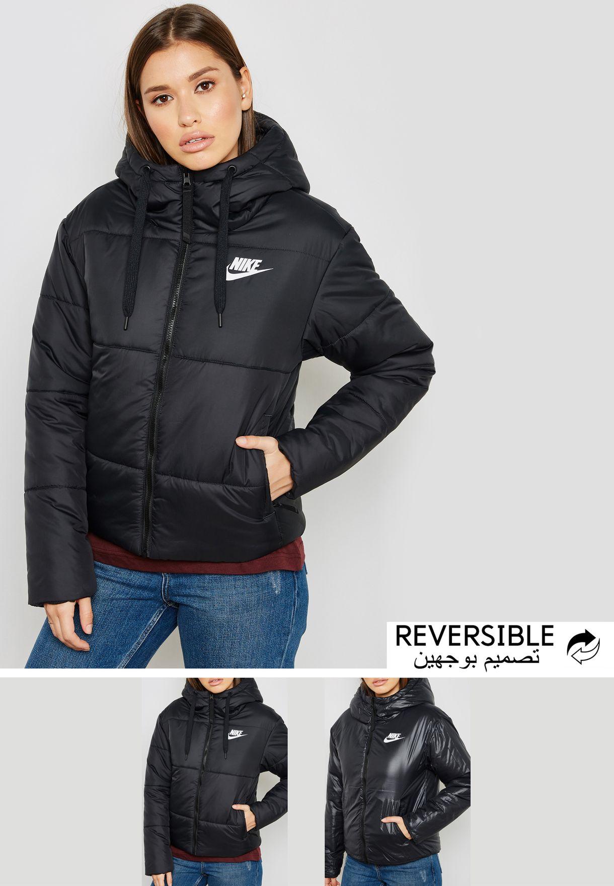 0cda152855 Shop Nike black NSW Reversible Jacket 939360-010 for Women in UAE ...