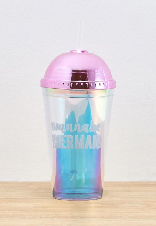 Mermaid Iridescent Water Bottle