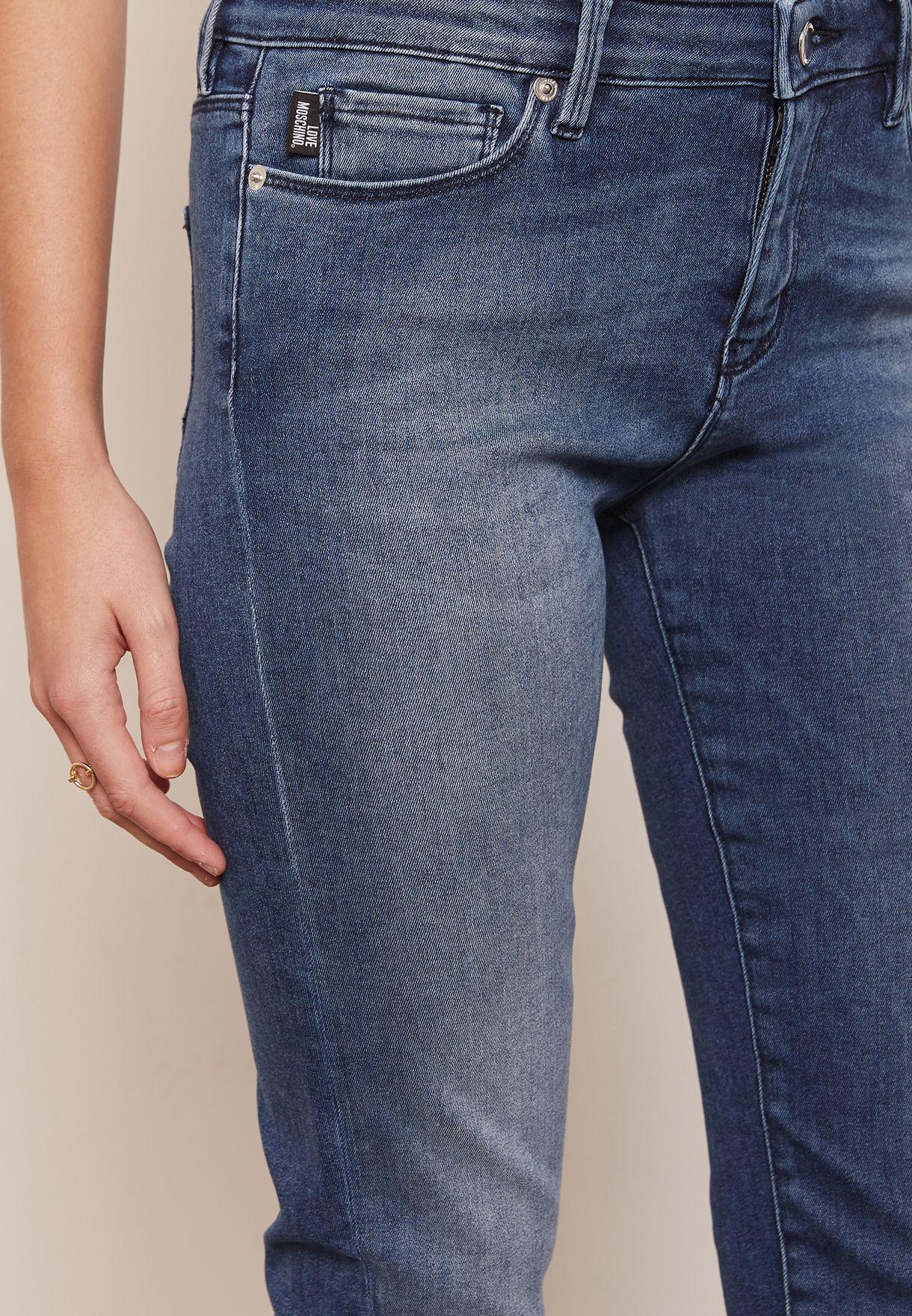 Skinny Logo Pocket Jeans