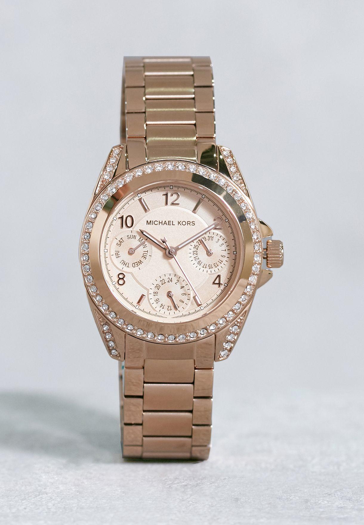 0c3cf952c4bb Shop Michael Kors gold Mini Blair Watch MK5613 for Women in UAE -  MI534AC33OFI