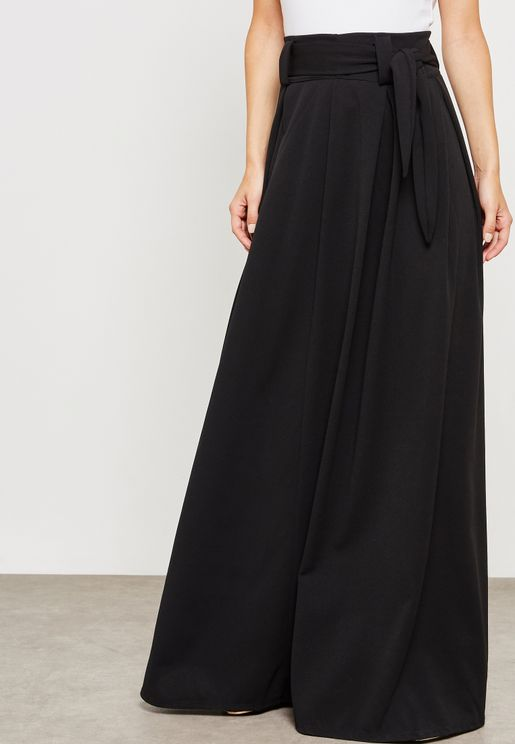 Self Tie Maxi Skirt